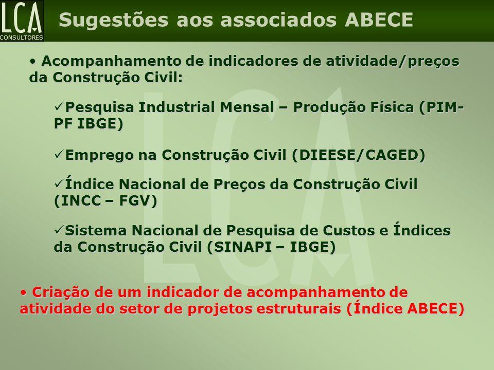 Sugestões aos associados ABECE