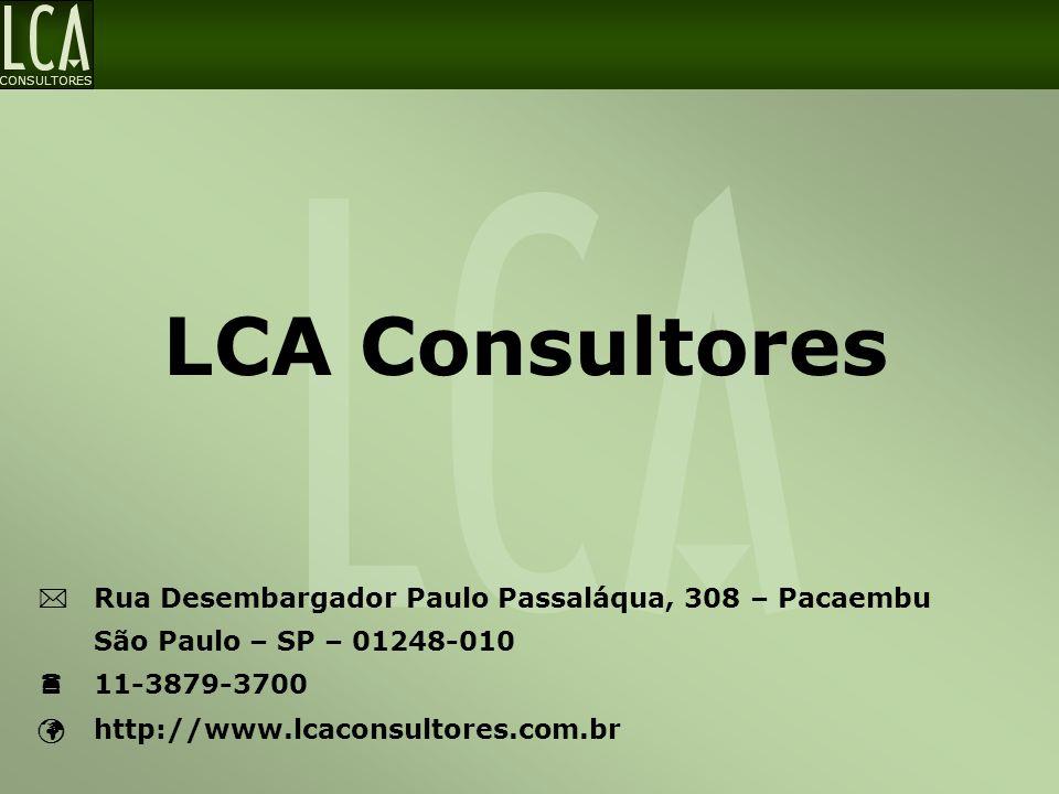 LCA Consultores  Rua Desembargador Paulo Passaláqua, 308 – Pacaembu
