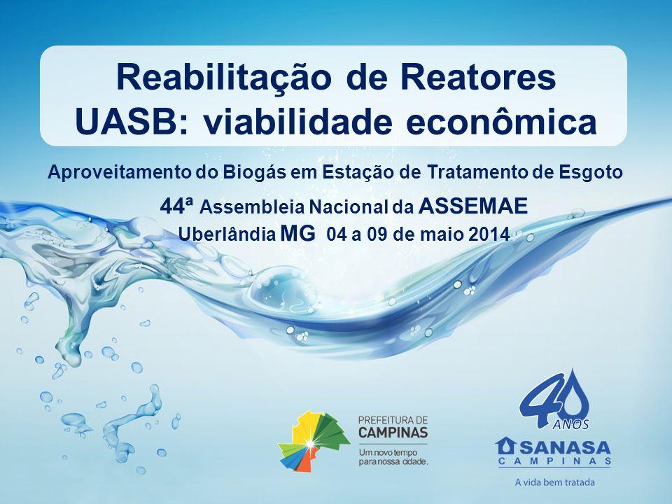 Reabilitação de Reatores UASB: viabilidade econômica