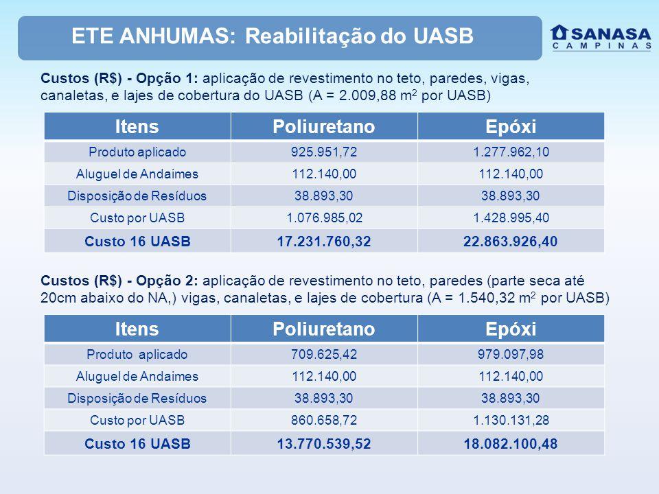 ETE ANHUMAS: Reabilitação do UASB