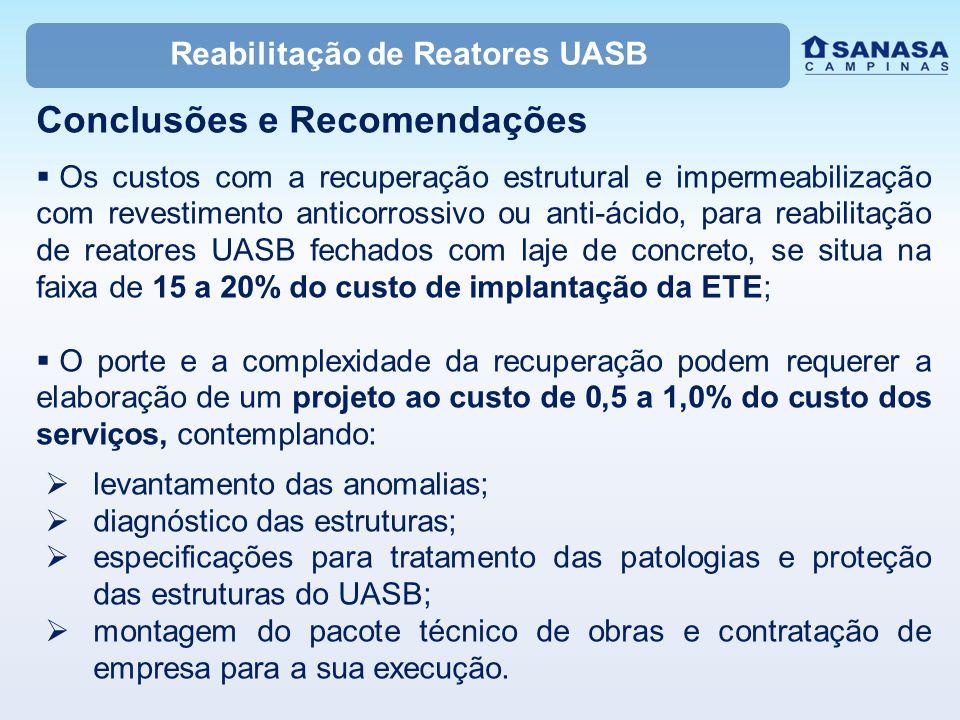 Reabilitação de Reatores UASB