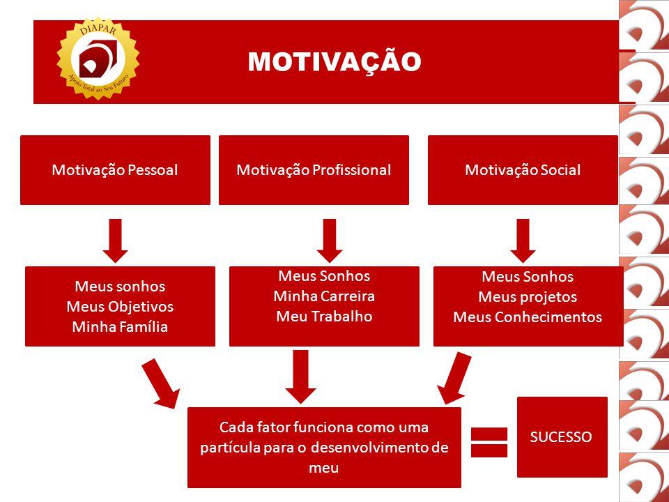 MOTIVAÇÃO Motivação Pessoal Motivação Profissional Motivação Social