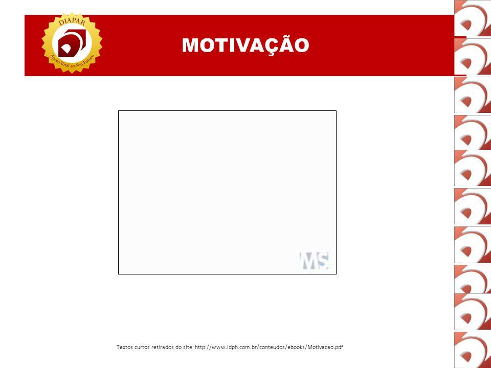 MOTIVAÇÃO Textos curtos retirados do site: http://www.idph.com.br/conteudos/ebooks/Motivacao.pdf