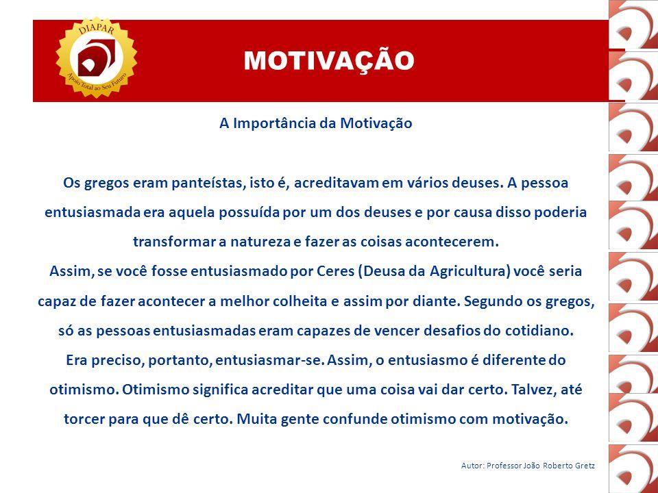 MOTIVAÇÃO A Importância da Motivação