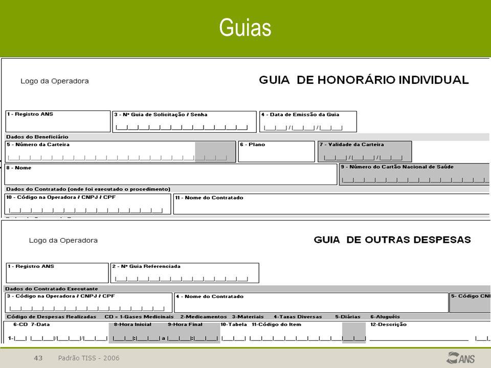 Guias Padrão TISS - 2006