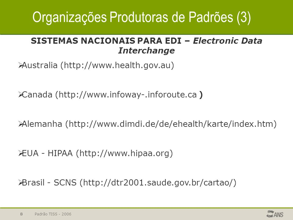 SISTEMAS NACIONAIS PARA EDI – Electronic Data Interchange