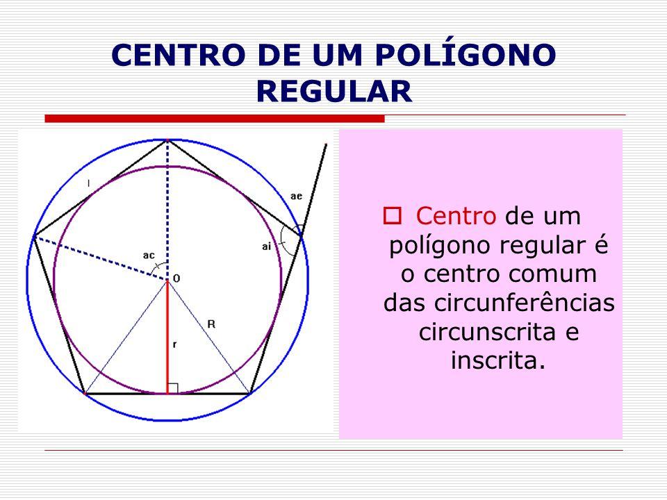 CENTRO DE UM POLÍGONO REGULAR
