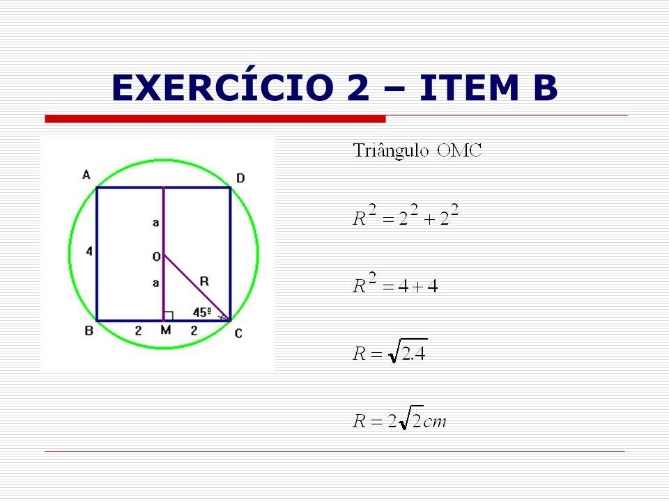 EXERCÍCIO 2 – ITEM B