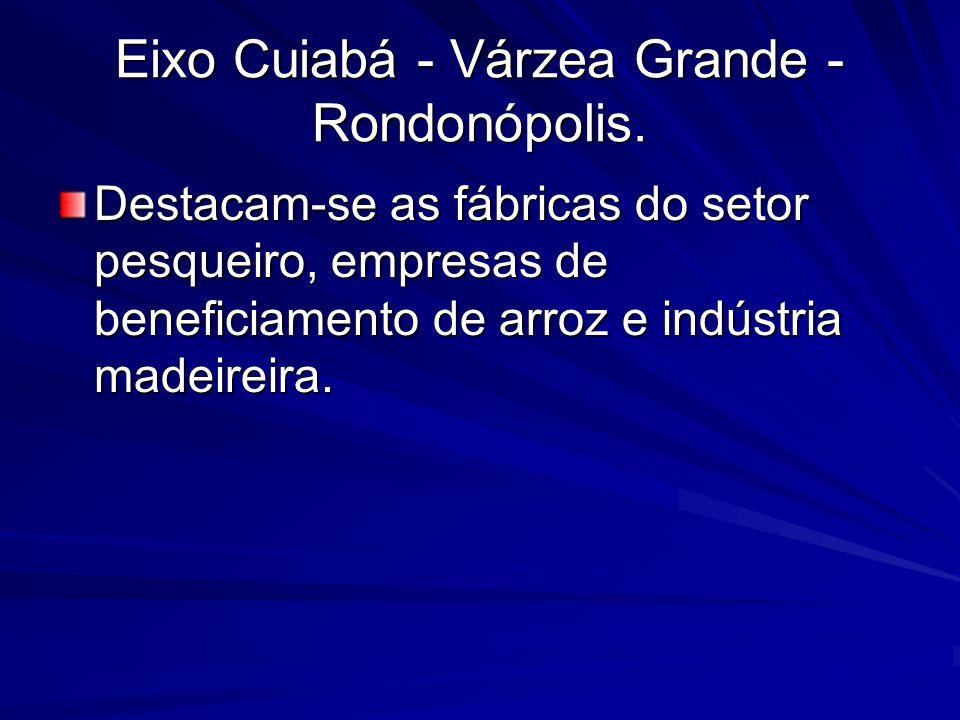 Eixo Cuiabá - Várzea Grande - Rondonópolis.