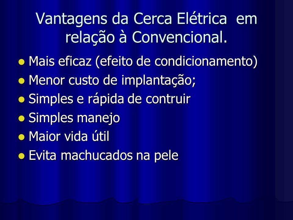Vantagens da Cerca Elétrica em relação à Convencional.