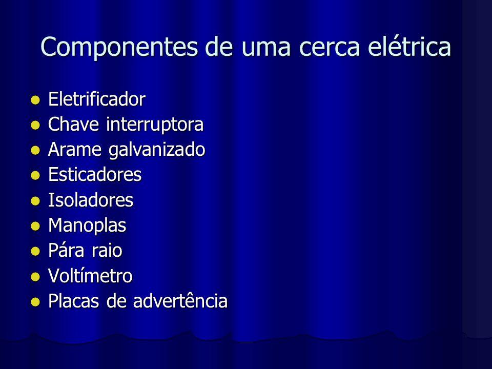 Componentes de uma cerca elétrica
