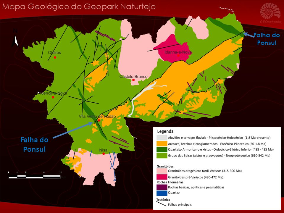 Mapa Geológico do Geopark Naturtejo