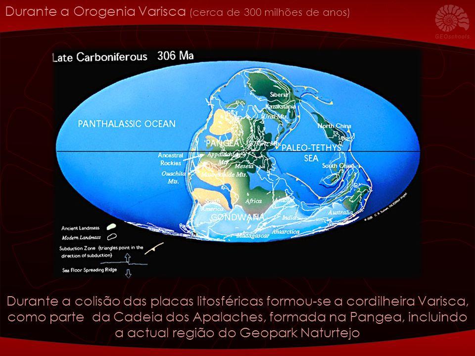 Durante a Orogenia Varisca (cerca de 300 milhões de anos)