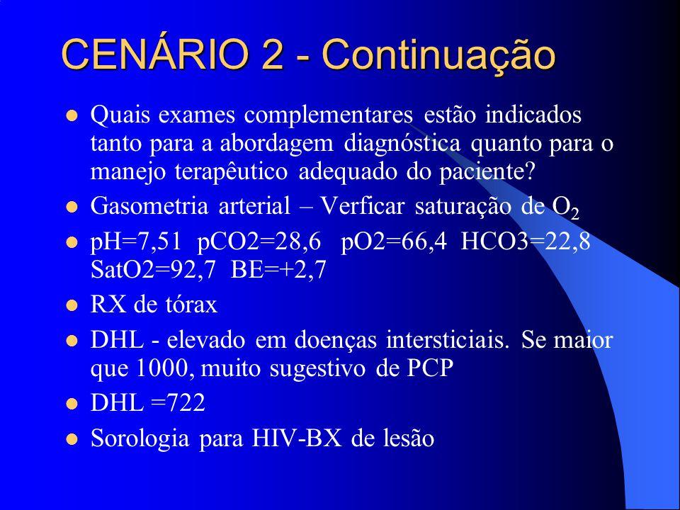 CENÁRIO 2 - Continuação