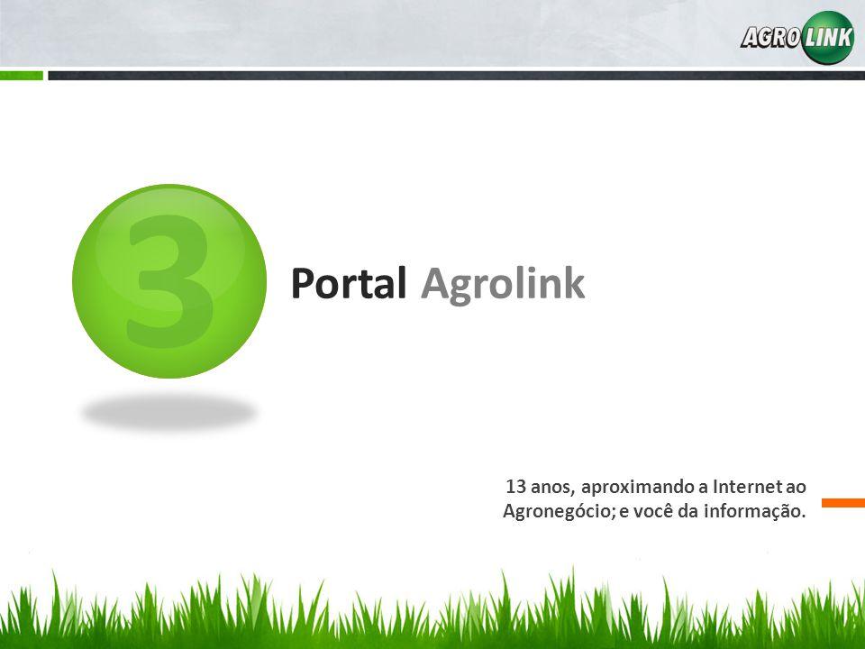 3 Portal Agrolink 13 anos, aproximando a Internet ao