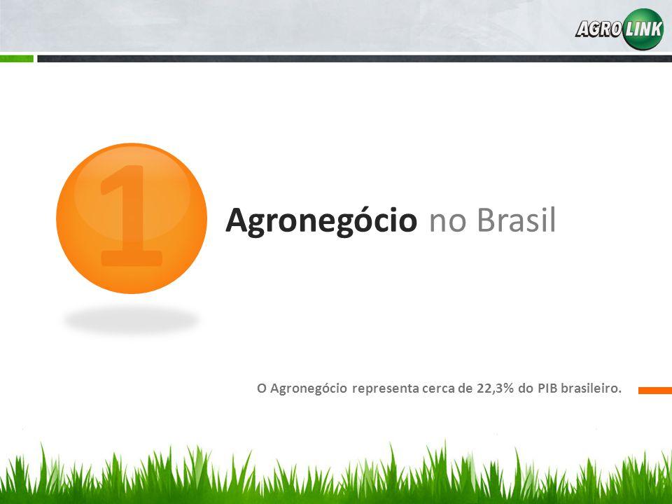 1 Agronegócio no Brasil O Agronegócio representa cerca de 22,3% do PIB brasileiro.