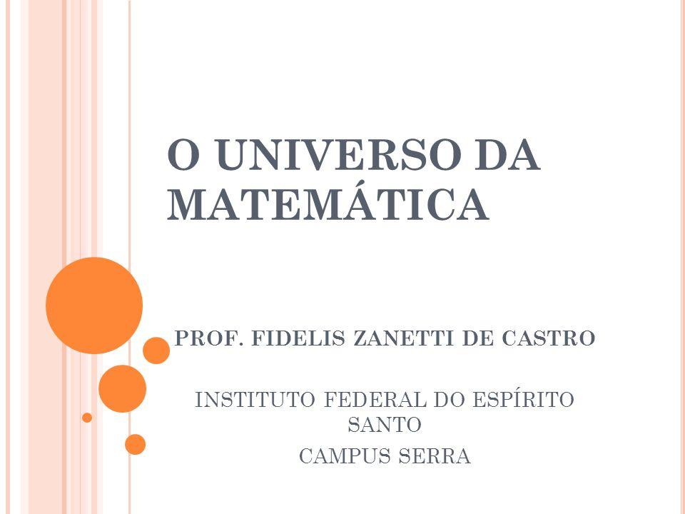 O UNIVERSO DA MATEMÁTICA