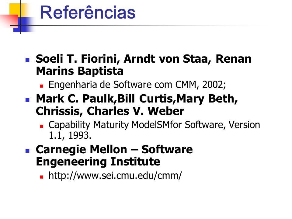 Referências Soeli T. Fiorini, Arndt von Staa, Renan Marins Baptista