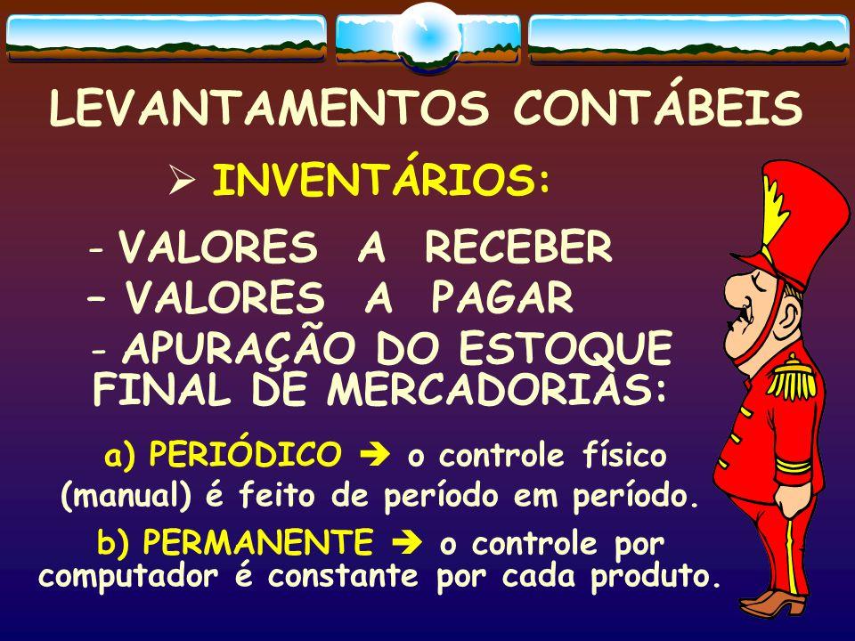 LEVANTAMENTOS CONTÁBEIS