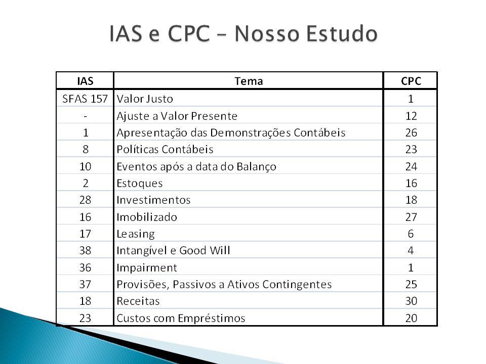 IAS e CPC – Nosso Estudo