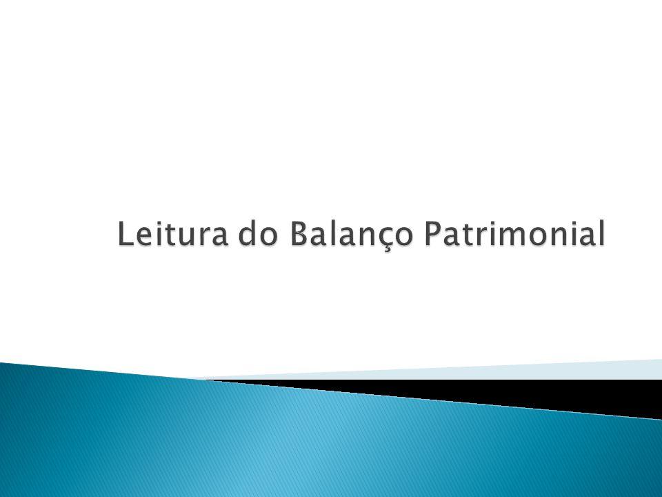 Leitura do Balanço Patrimonial