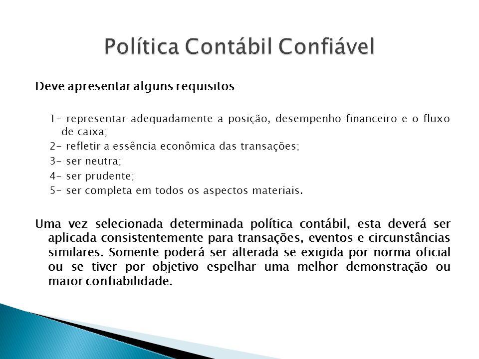 Política Contábil Confiável