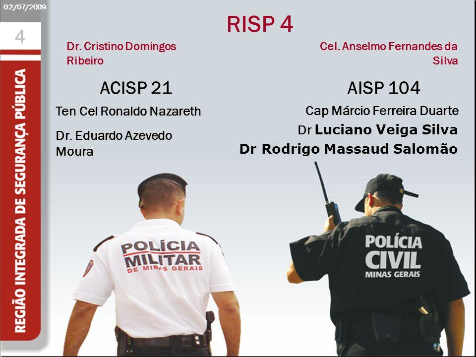 RISP 4 4 ACISP 21 AISP 104 Apresentação Inicial Obrigatório