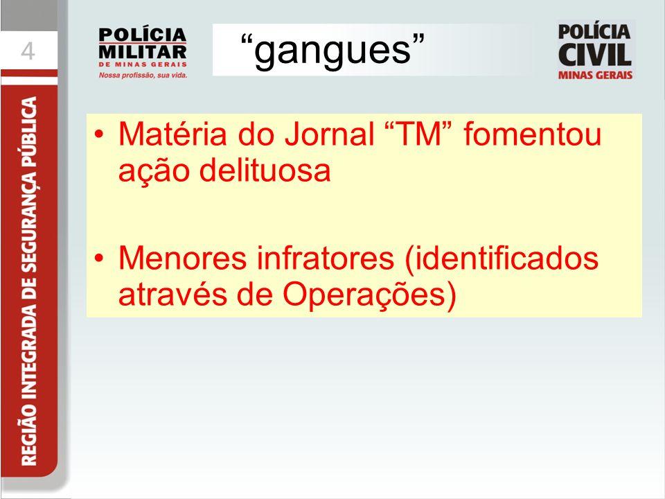 gangues Matéria do Jornal TM fomentou ação delituosa