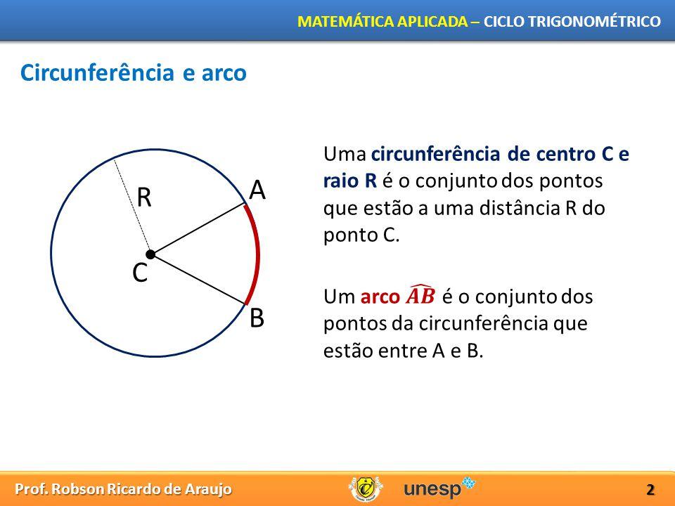 A R C B Circunferência e arco