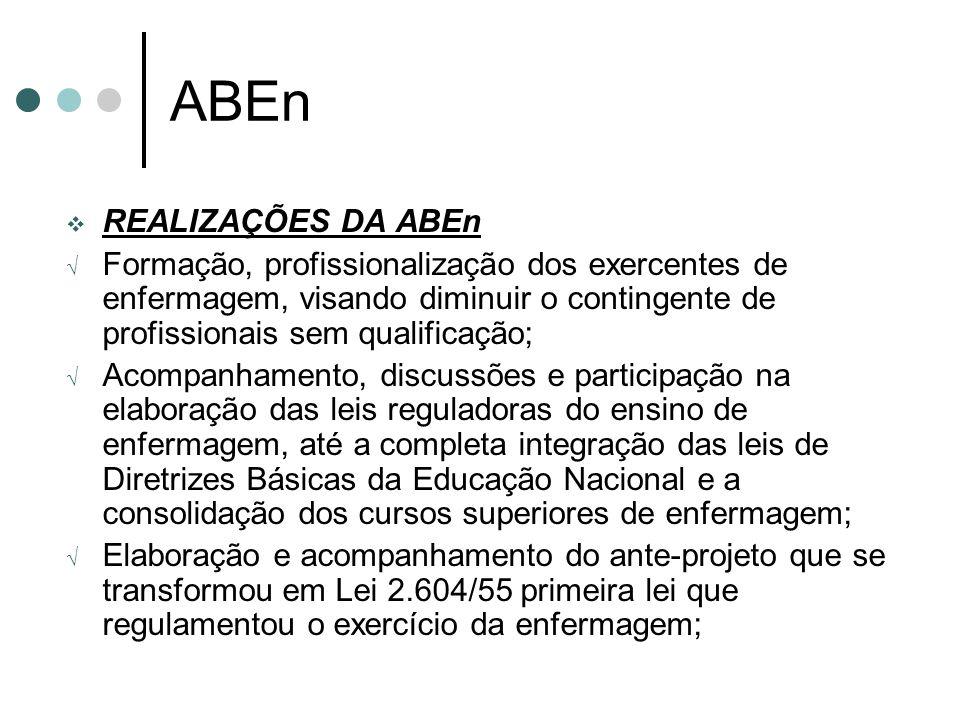 ABEn REALIZAÇÕES DA ABEn