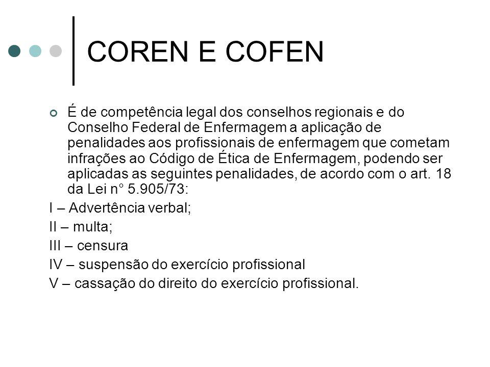 COREN E COFEN