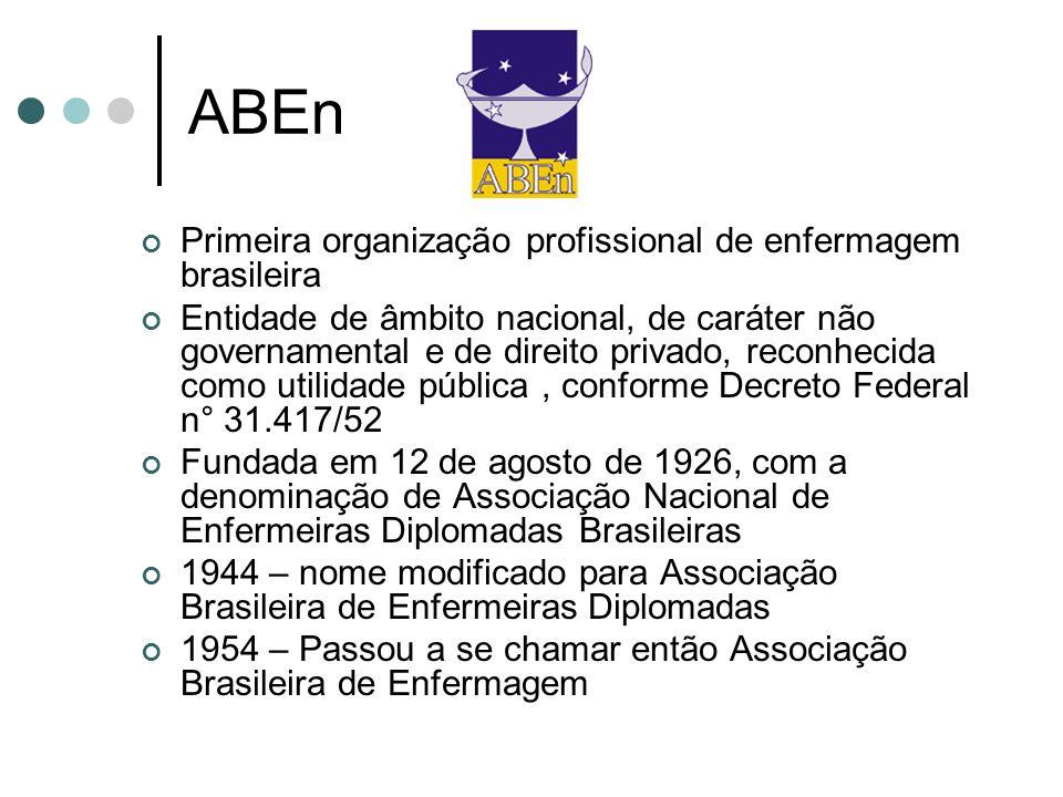 ABEn Primeira organização profissional de enfermagem brasileira