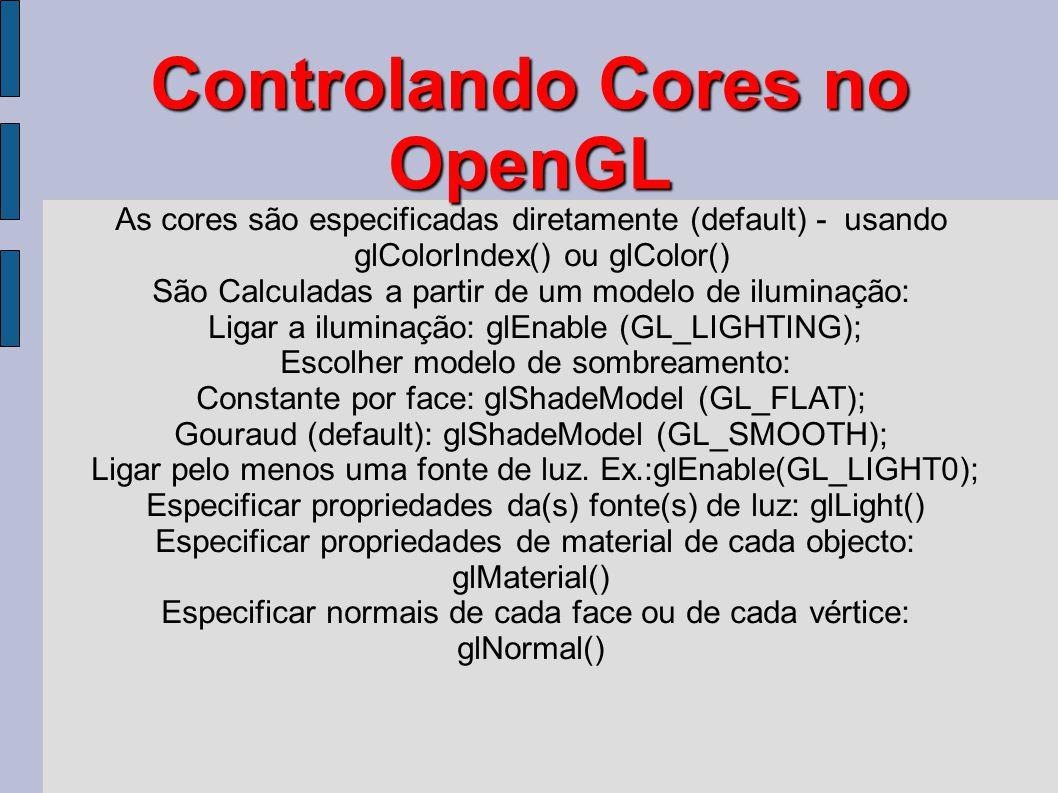 Controlando Cores no OpenGL