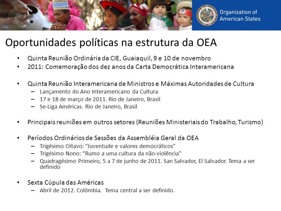 Oportunidades políticas na estrutura da OEA