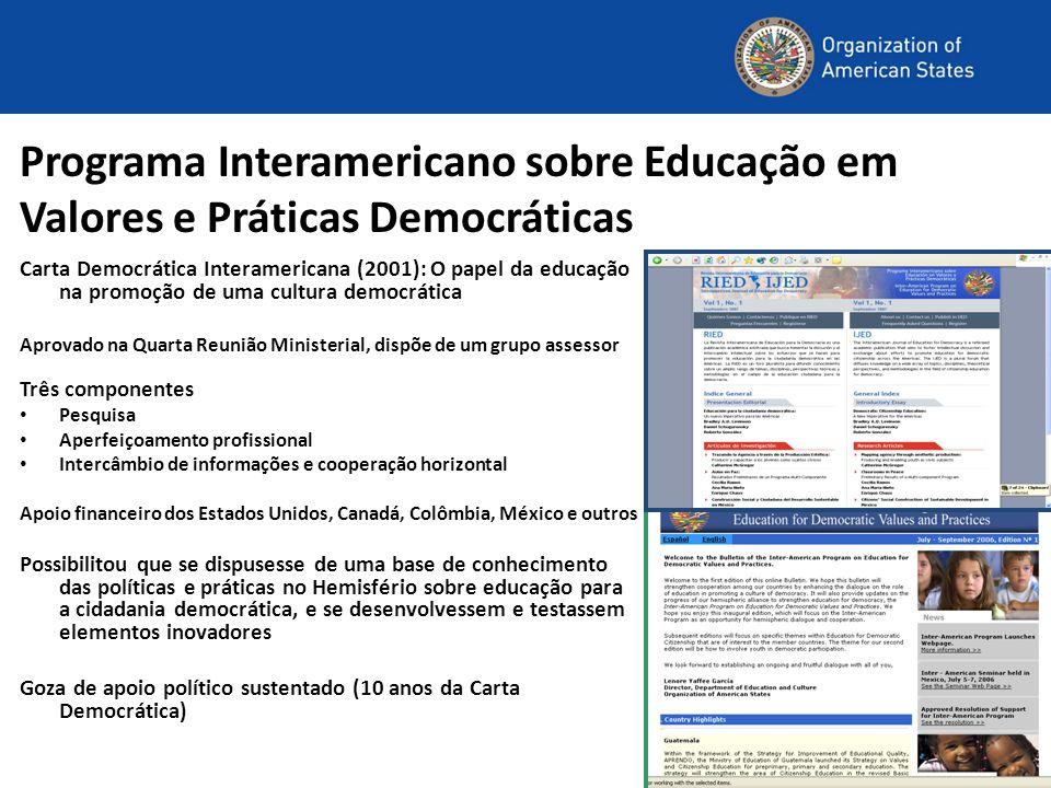 Programa Interamericano sobre Educação em Valores e Práticas Democráticas