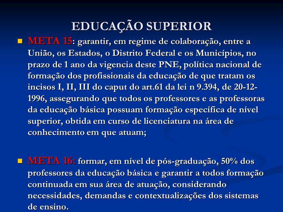 EDUCAÇÃO SUPERIOR