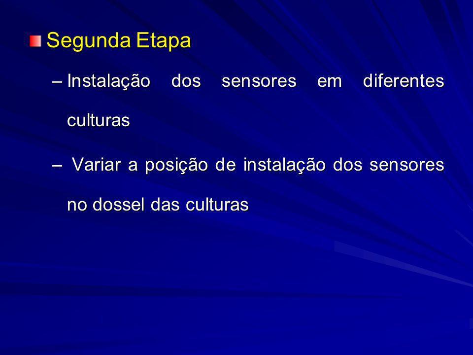 Segunda Etapa Instalação dos sensores em diferentes culturas
