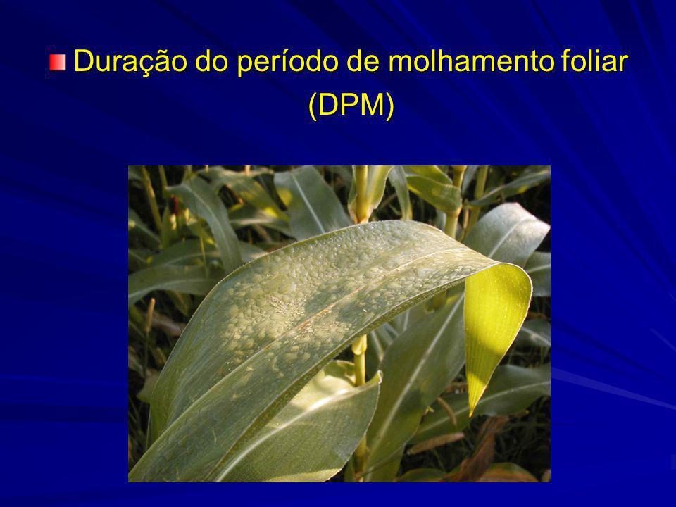 Duração do período de molhamento foliar (DPM)