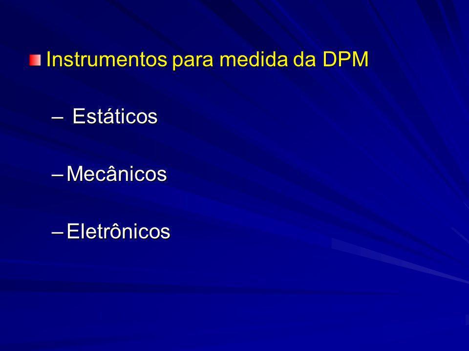 Instrumentos para medida da DPM