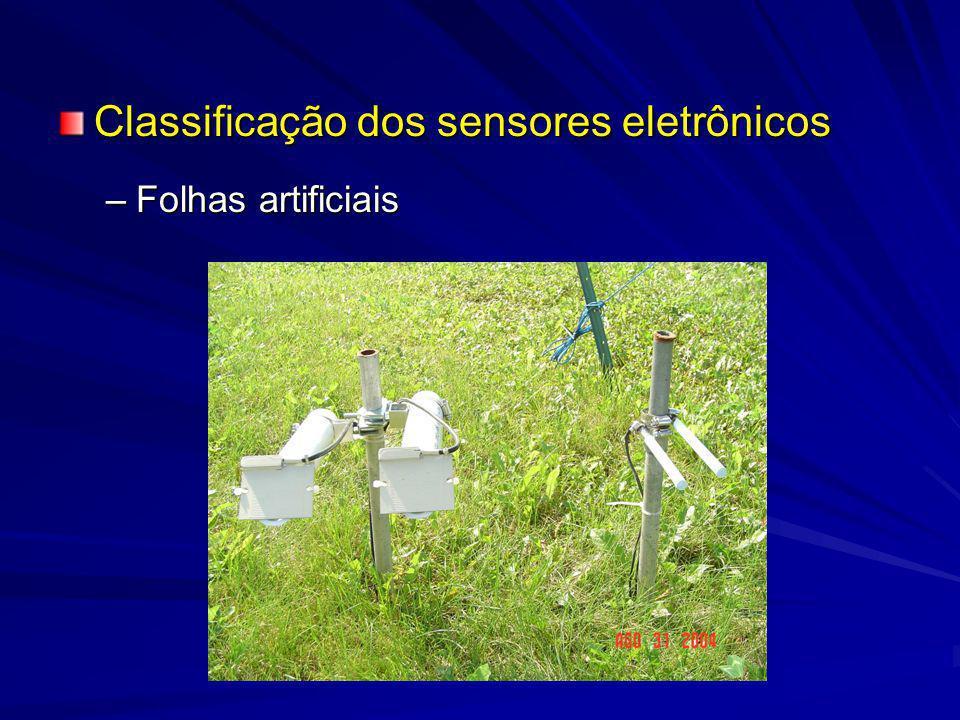 Classificação dos sensores eletrônicos