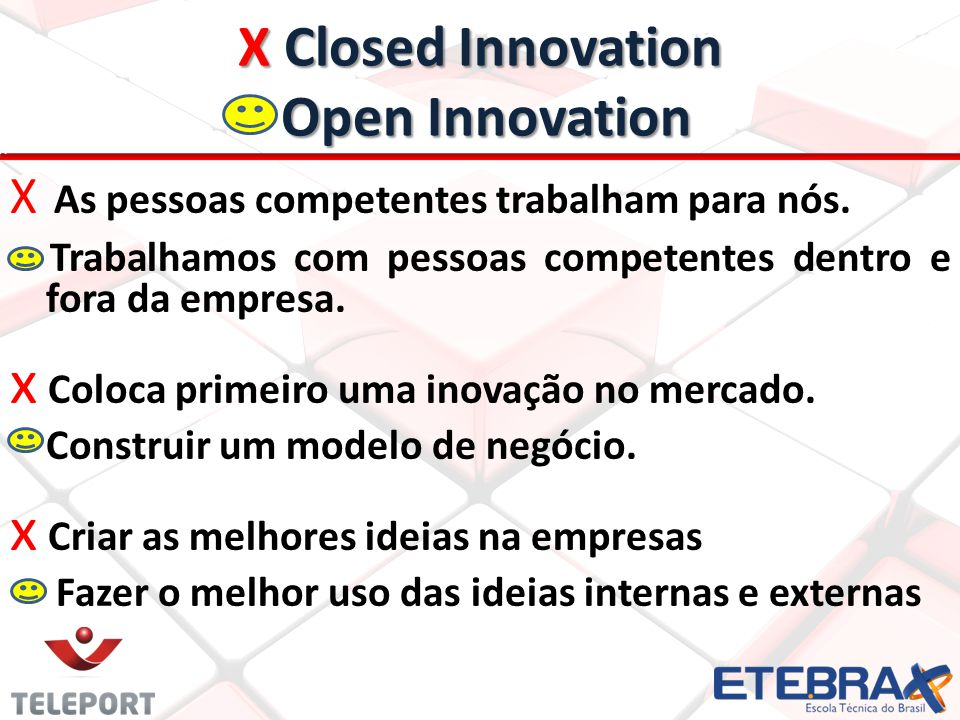 X Closed Innovation Open Innovation