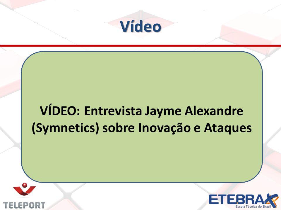 VÍDEO: Entrevista Jayme Alexandre (Symnetics) sobre Inovação e Ataques