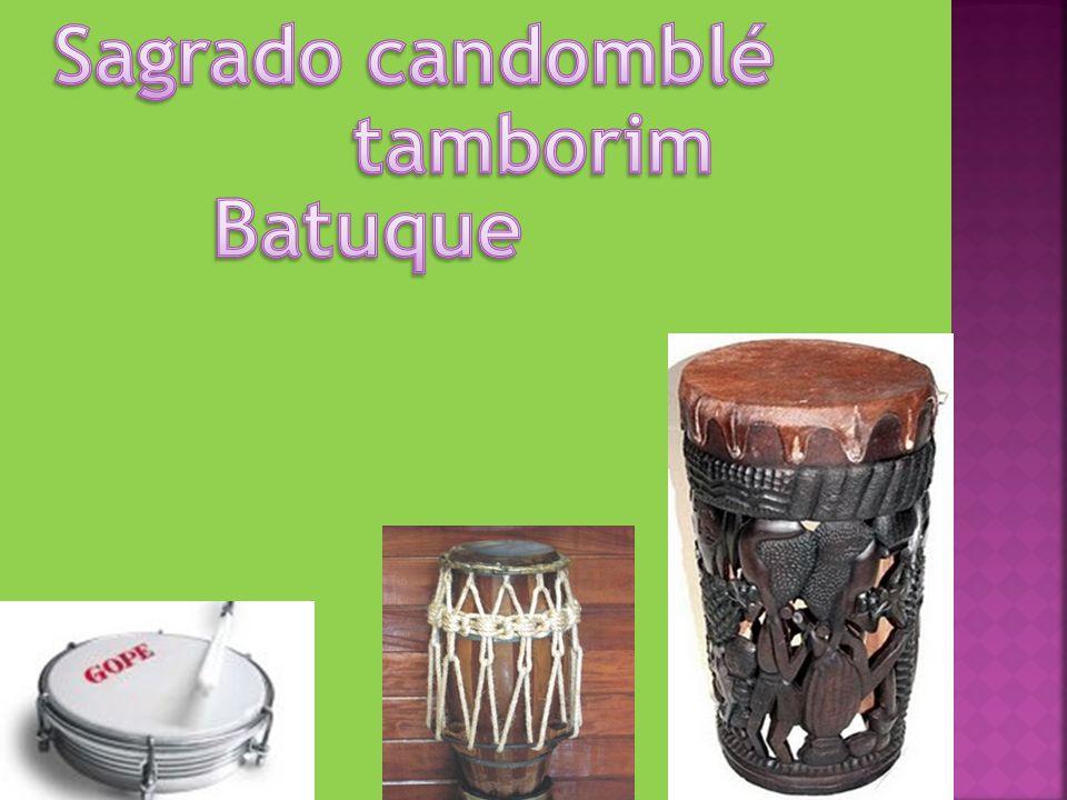Sagrado candomblé tamborim Batuque