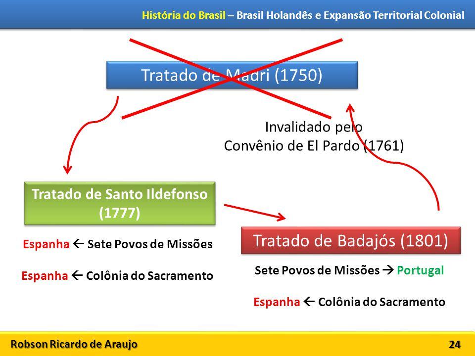 Tratado de Madri (1750) Tratado de Badajós (1801) Invalidado pelo