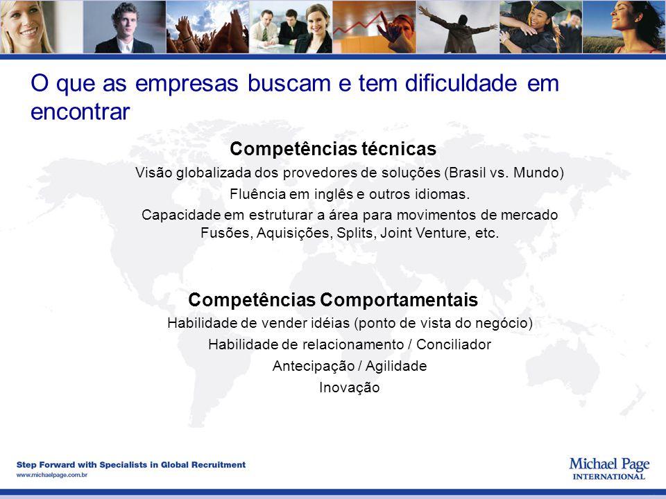 Competências técnicas Competências Comportamentais
