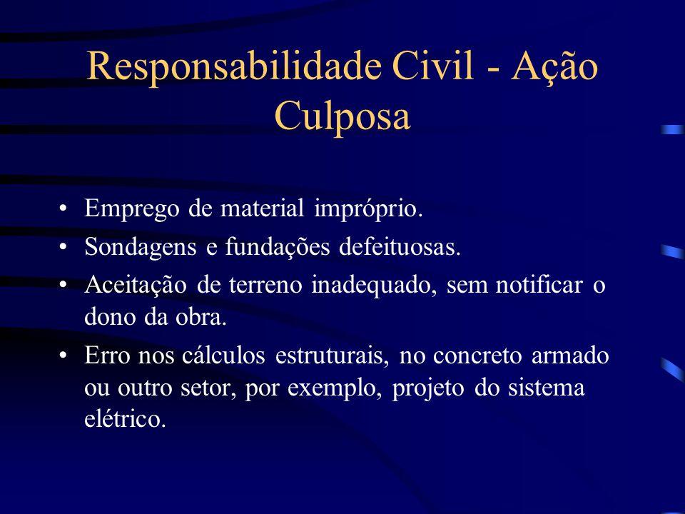 Responsabilidade Civil - Ação Culposa