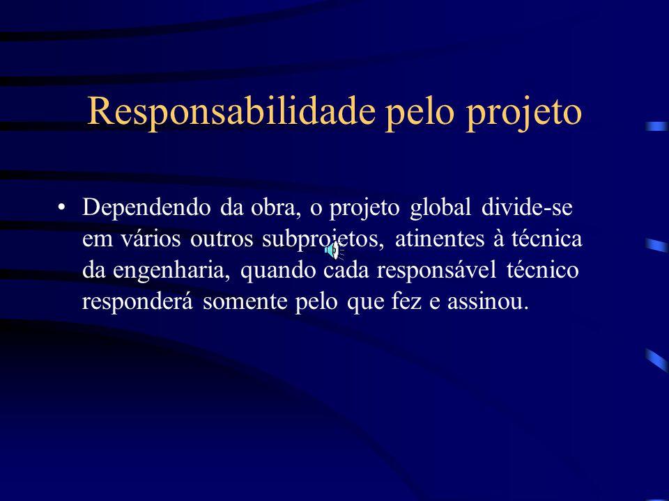 Responsabilidade pelo projeto
