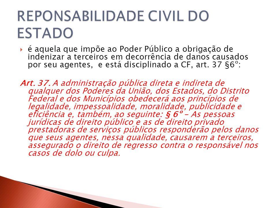 REPONSABILIDADE CIVIL DO ESTADO