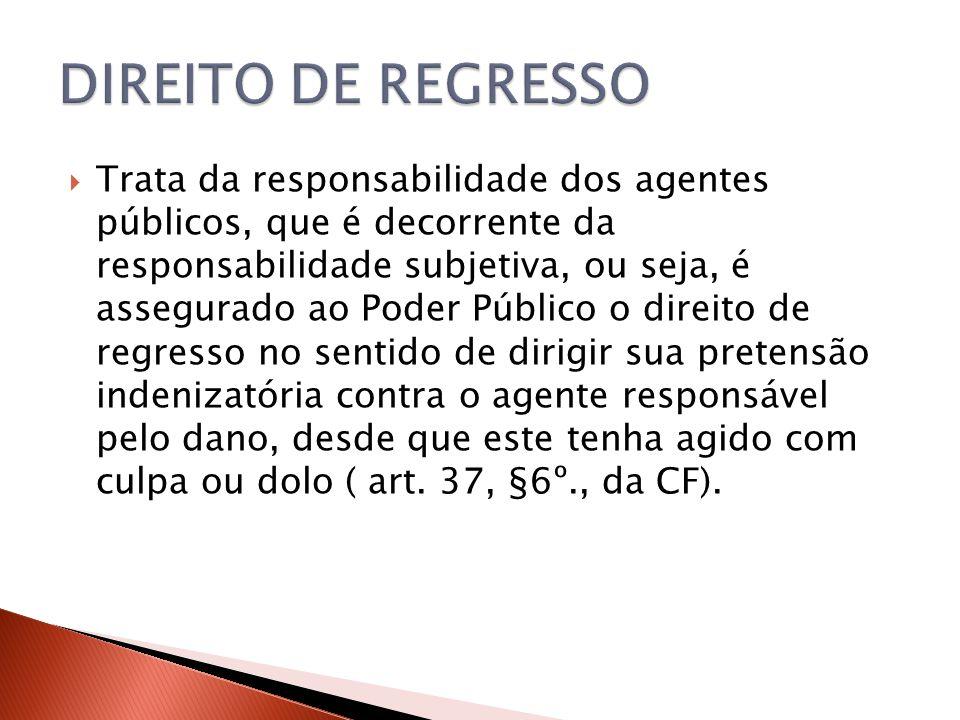 DIREITO DE REGRESSO