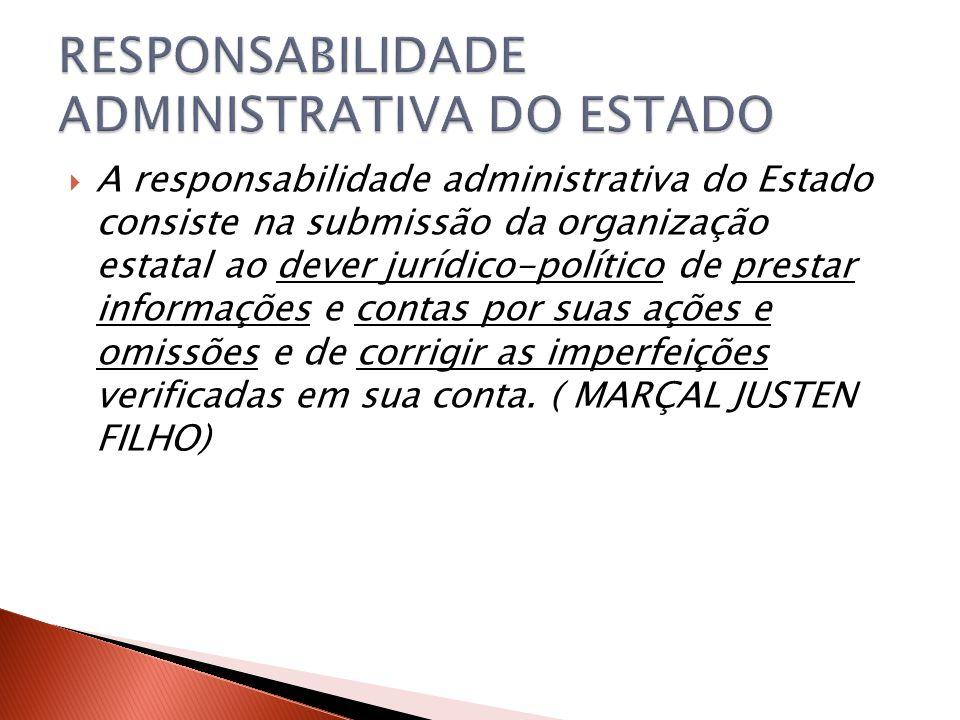 RESPONSABILIDADE ADMINISTRATIVA DO ESTADO